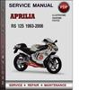 Thumbnail Aprilia RS 125 1993-2006 Factory Service Repair Manual PDF
