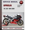Thumbnail Aprilia RS 250 1994-2008 Factory Service Repair Manual PDF