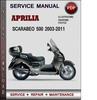 Thumbnail Aprilia Scarabeo 500 2003-2011 Factory Service Repair Manual PDF