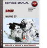 Thumbnail BMW Marine D7 Factory Service Repair Manual PDF