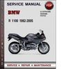 Thumbnail BMW R 1100 1992-2005 Factory Service Repair Manual PDF