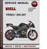 Thumbnail Buell Firebolt 2003-2007 Factory Service Repair Manual PDF