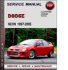 Thumbnail Dodge Neon 1997-2005 Factory Service Repair Manual PDF