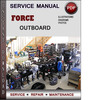 Thumbnail Force Outboard 40 hp 40hp 2 cyl 2-stroke 1992-1999 Factory Service Repair Manual PDF