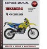 Thumbnail Husaberg FE 450 2000-2004 Factory Service Repair Manual PDF