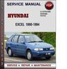 Thumbnail Hyundai Excel 1990-1994 Factory Service Repair Manual PDF