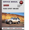 Thumbnail Isuzu Rodeo Sport 1999-2002 Factory Service Repair Manual Download PDF