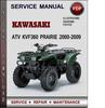 Thumbnail Kawasaki ATV KVF360 Prairie 2000-2009 Factory Service Repair Manual Download PDF