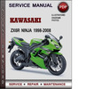Thumbnail Kawasaki ZX6R Ninja 1998-2008 Factory Service Repair Manual Download PDF
