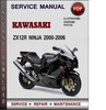 Thumbnail Kawasaki ZX12R Ninja 2000-2006 Factory Service Repair Manual Download PDF
