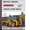 Thumbnail Komatsu Backhoe Loader WB97R-2 Serial 97F20001 Factory Service Repair Manual Download PDF