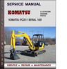 Thumbnail Komatsu PC25-1 Serial 1001 and up Factory Service Repair Manual Download PDF