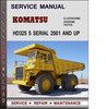 Thumbnail Komatsu HD325 5 Serial 2001 and up Factory Service Repair Manual Download PDF