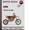 Thumbnail KTM 85 SX 2004 Factory Service Repair Manual Download Pdf