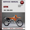 Thumbnail KTM 200 1998-2003 Factory Service Repair Manual Download PDF