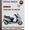 Thumbnail Kymco Grand Dink 125 1999-2008 Factory Service Repair Manual Download PDF