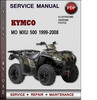 Thumbnail Kymco MO MXU 500 1999-2008 Factory Service Repair Manual Download PDF