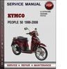 Thumbnail Kymco People 50 1999-2008 Factory Service Repair Manual Download PDF