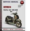 Thumbnail Kymco People 250 1999-2008 Factory Service Repair Manual Download PDF