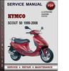 Thumbnail Kymco Scout 50 1999-2008 Factory Service Repair Manual Download PDF