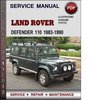 Thumbnail Land Rover Defender 110 1983-1990 Factory Service Repair Manual Download PDF