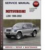 Thumbnail Mitsubishi L200 1996-2002 Factory Service Repair Manual Download Pdf