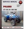 Thumbnail Polaris ATV 300 2x4 1985-1995 Factory Service Repair Manual Download Pdf