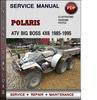 Thumbnail Polaris ATV Big Boss 4x6 1985-1995 Factory Service Repair Manual Download Pdf