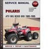 Thumbnail Polaris ATV Big Boss 500 6x6 1996-1998 Factory Service Repair Manual Download Pdf