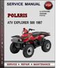 Thumbnail Polaris ATV Explorer 500 1997 Factory Service Repair Manual Download Pdf