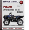 Thumbnail Polaris ATV Magnum 330 2x4 4x4 2003-2006 Factory Service Repair Manual Download Pdf