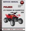 Thumbnail Polaris ATV Phoenix 200 Quadricycle 2009 Factory Service Repair Manual Download Pdf
