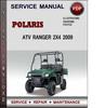 Thumbnail Service Manual Polaris ATV Ranger 2x4 2009 Factory Service Repair Manual Download Pdf
