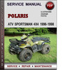 Thumbnail Polaris ATV Sportsman 4x4 1996-1998 Factory Service Repair Manual Download Pdf