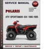 Thumbnail Polaris ATV Sportsman 4x4 1985-1995 Factory Service Repair Manual Download Pdf