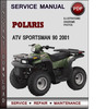 Thumbnail Polaris ATV Sportsman 90 2001 Factory Service Repair Manual Download Pdf