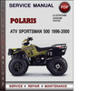 Thumbnail Polaris ATV Sportsman 500 1996-2000 Factory Service Repair Manual Download Pdf