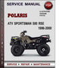 Thumbnail Polaris ATV Sportsman 500 RSE 1996-2000 Factory Service Repair Manual Download Pdf