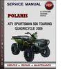 Thumbnail Polaris ATV Sportsman 500 Touring Quadricycle 2009 Factory Service Repair Manual Download Pdf