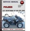 Thumbnail Polaris ATV Sportsman XP 850 EPS 2009 Factory Service Repair Manual Download Pdf