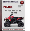 Thumbnail Polaris ATV Trail Boss 2x4 350L 1985-1995 Factory Service Repair Manual Download Pdf
