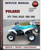 Thumbnail Polaris ATV Trail Boss 1985-1995 Factory Service Repair Manual Download Pdf