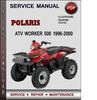 Thumbnail Polaris ATV Worker 500 1996-2000 Factory Service Repair Manual Download Pdf