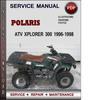 Thumbnail Polaris ATV Xplorer 300 1996-1998 Factory Service Repair Manual Download Pdf