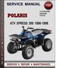 Thumbnail  Service Manual Polaris ATV Xplorer 500 1996 1997 1998 1999 Factory Service Repair Manual Download Pdf