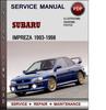 Thumbnail Subaru Impreza 1993-1998 Factory Service Repair Manual Download Pdf