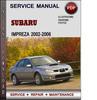 Thumbnail Subaru Impreza 2002-2006 Factory Service Repair Manual Download Pdf