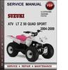 Thumbnail Suzuki ATV  LT Z 50 QUAD SPORT 2004-2009 Factory Service Repair Manual Download Pdf