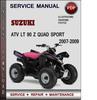 Thumbnail Suzuki ATV LT 90 Z Quad Sport 2007-2009 Factory Service Repair Manual Download Pdf