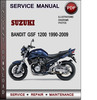 Thumbnail Suzuki Bandit GSF 1200 1990-2009 Factory Service Repair Manual Download Pdf